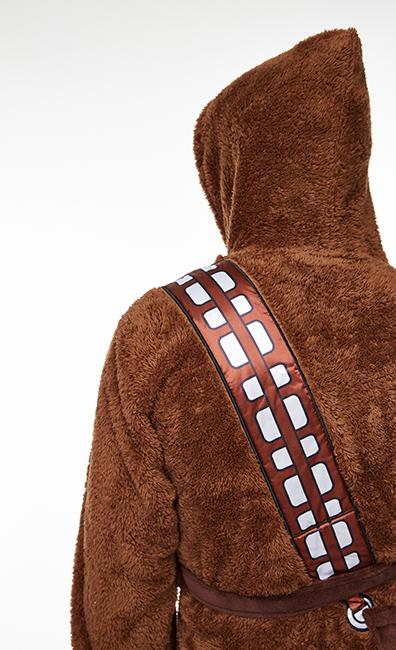 star wars chewbacca luxus bademantel bathrobe herren einheitsgr e neu ebay. Black Bedroom Furniture Sets. Home Design Ideas