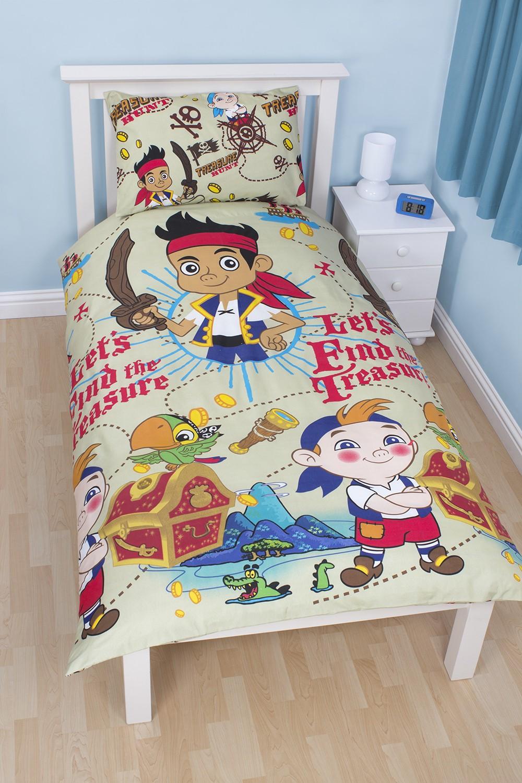 disney jake und die nimmerland piraten bettw sche 135x200. Black Bedroom Furniture Sets. Home Design Ideas