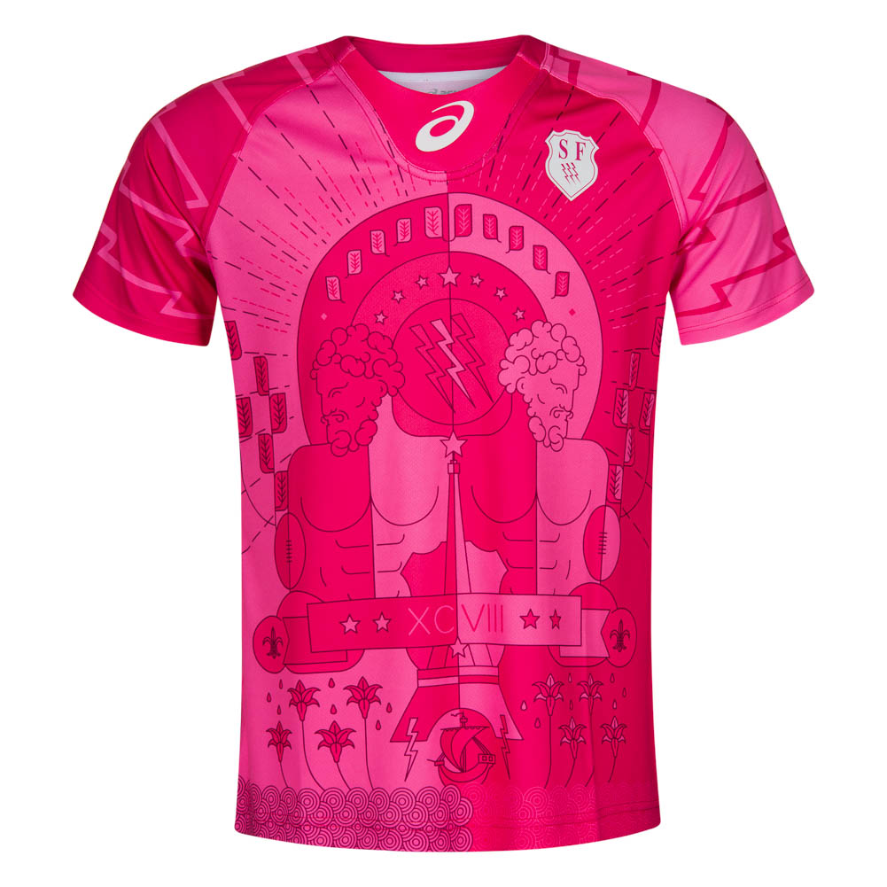 stade francais asics herren rugby trikot jersey maillot sf. Black Bedroom Furniture Sets. Home Design Ideas