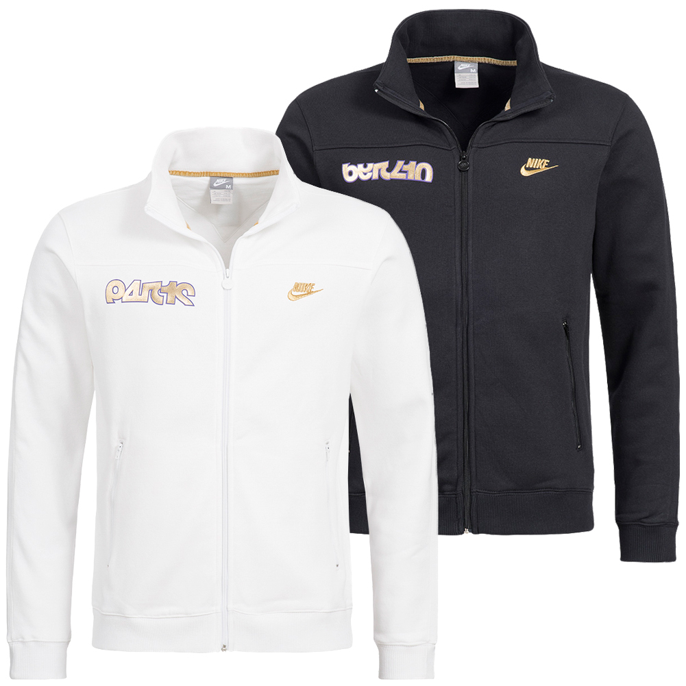 cc1210af7043 Nike Herren Track Top Trainingsjacke Full-Zip Jacket schwarz weiß ...
