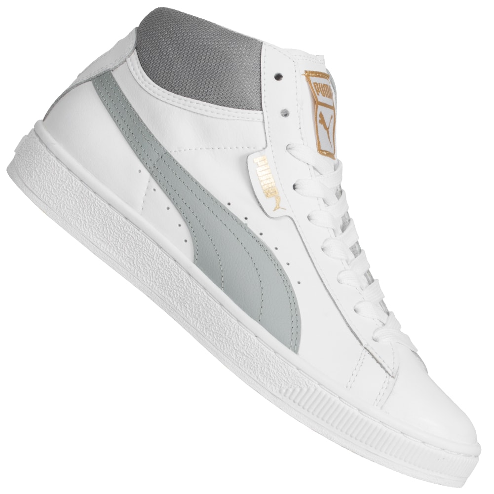 PUMA-Mid-L-Unisex-Sneaker-Leder-Freizeit-Schuhe-Mid-High-Top-Seakers-357175-neu
