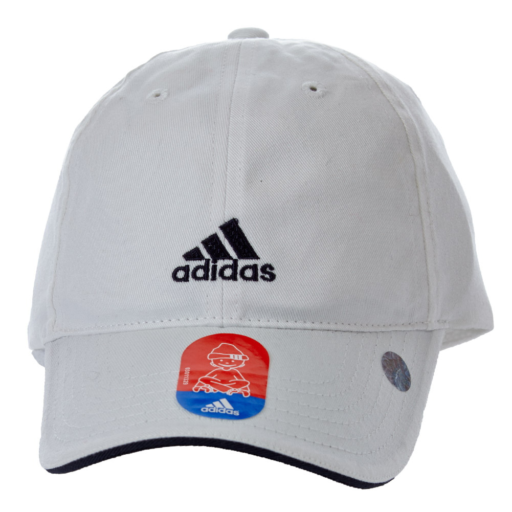 adidas kinder basic cap wei 302576 kappe wei neu ebay. Black Bedroom Furniture Sets. Home Design Ideas