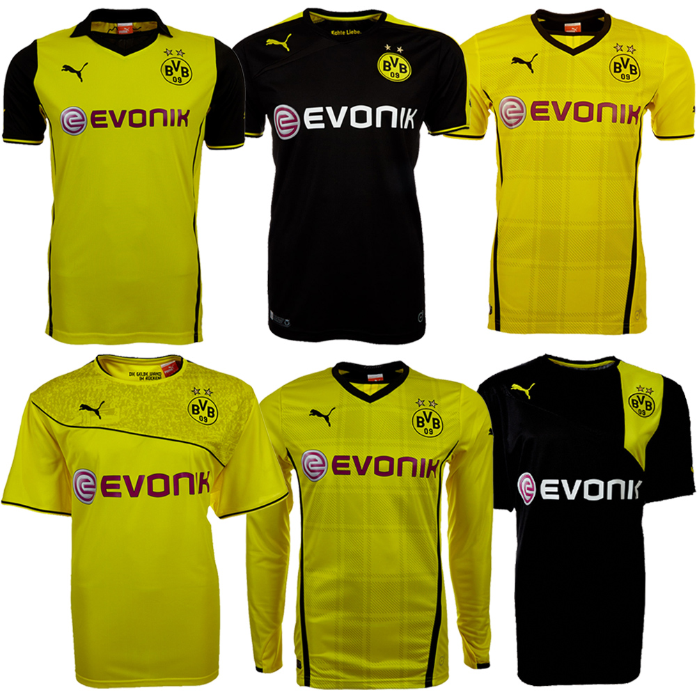 bvb 09 borussia dortmund jersey puma s m l xl 2xl 3xl 3xl 4xl 5xl bundesliga new. Black Bedroom Furniture Sets. Home Design Ideas