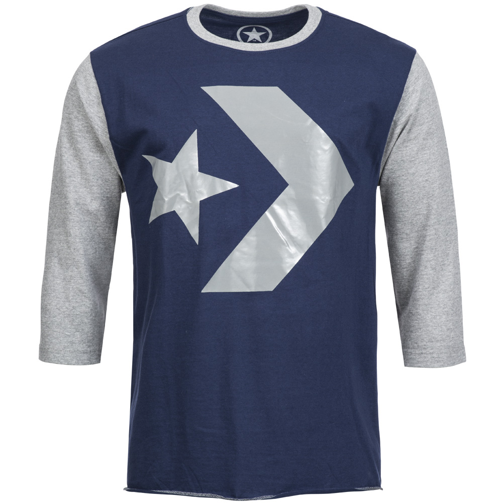 converse herren langarm shirt raglan 3c416301 3 4 arm. Black Bedroom Furniture Sets. Home Design Ideas