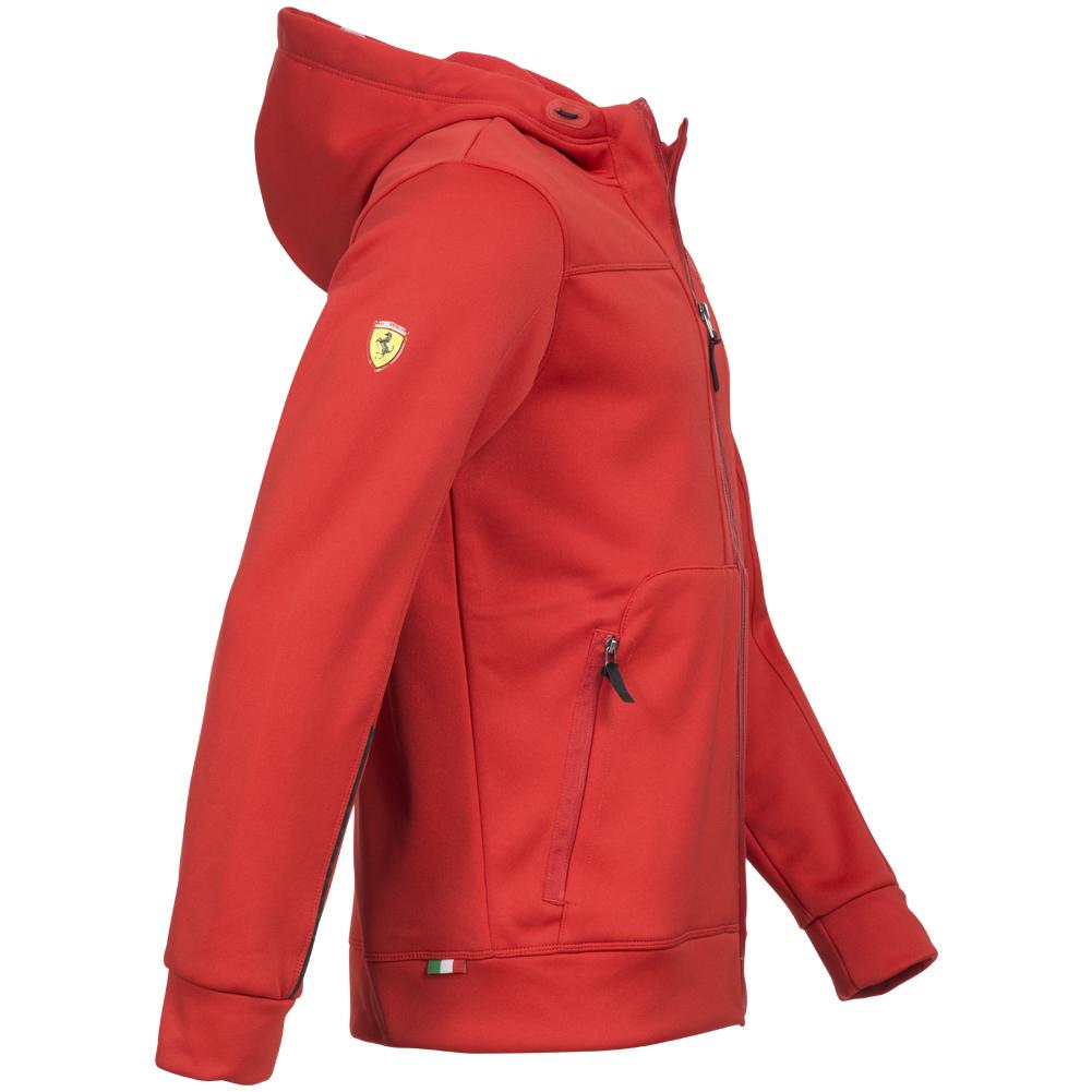 puma scuderia ferrari soft shell jacket 564227-02 formula 1 men's