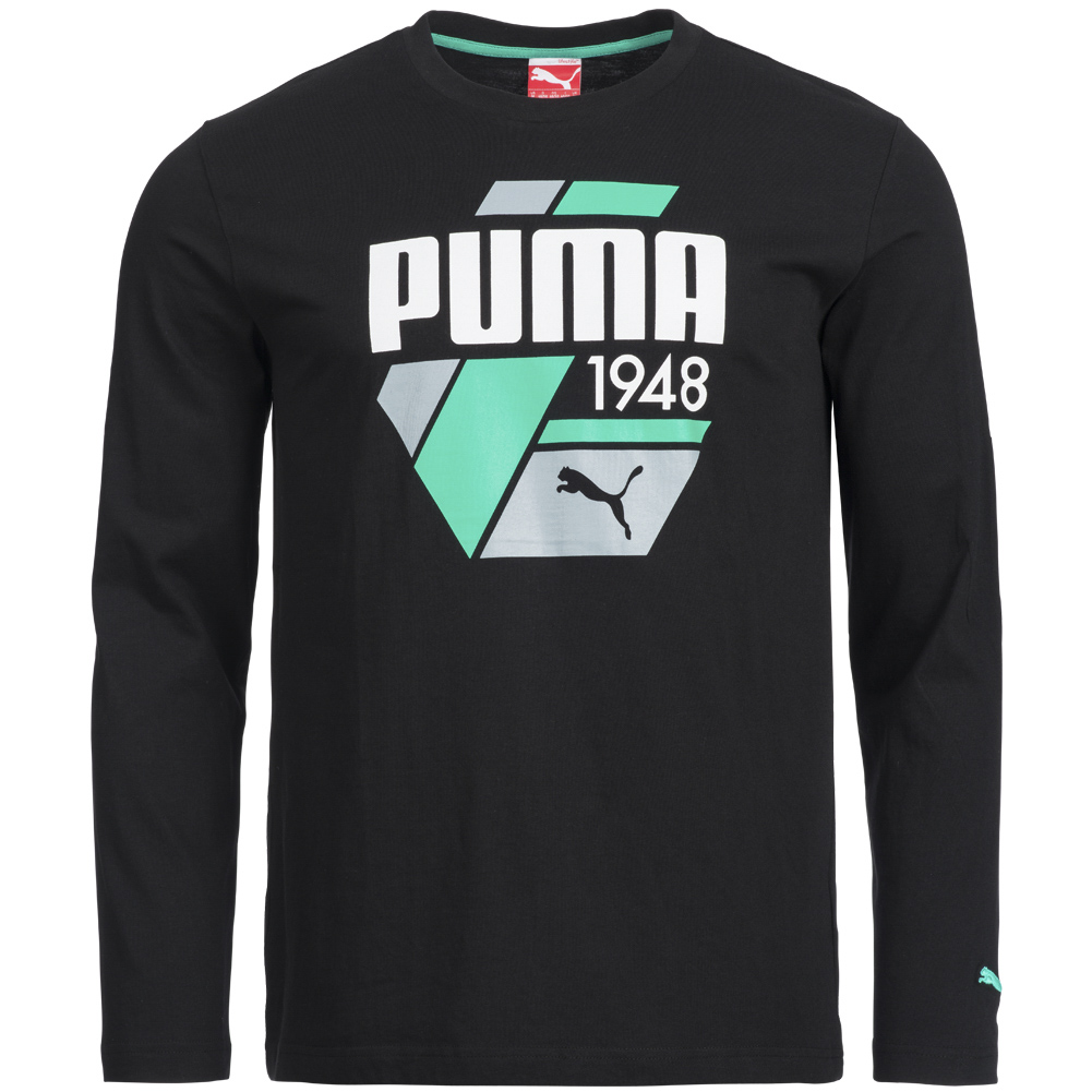 puma fd sp casual strip herren longsleeve t shirt 830021. Black Bedroom Furniture Sets. Home Design Ideas