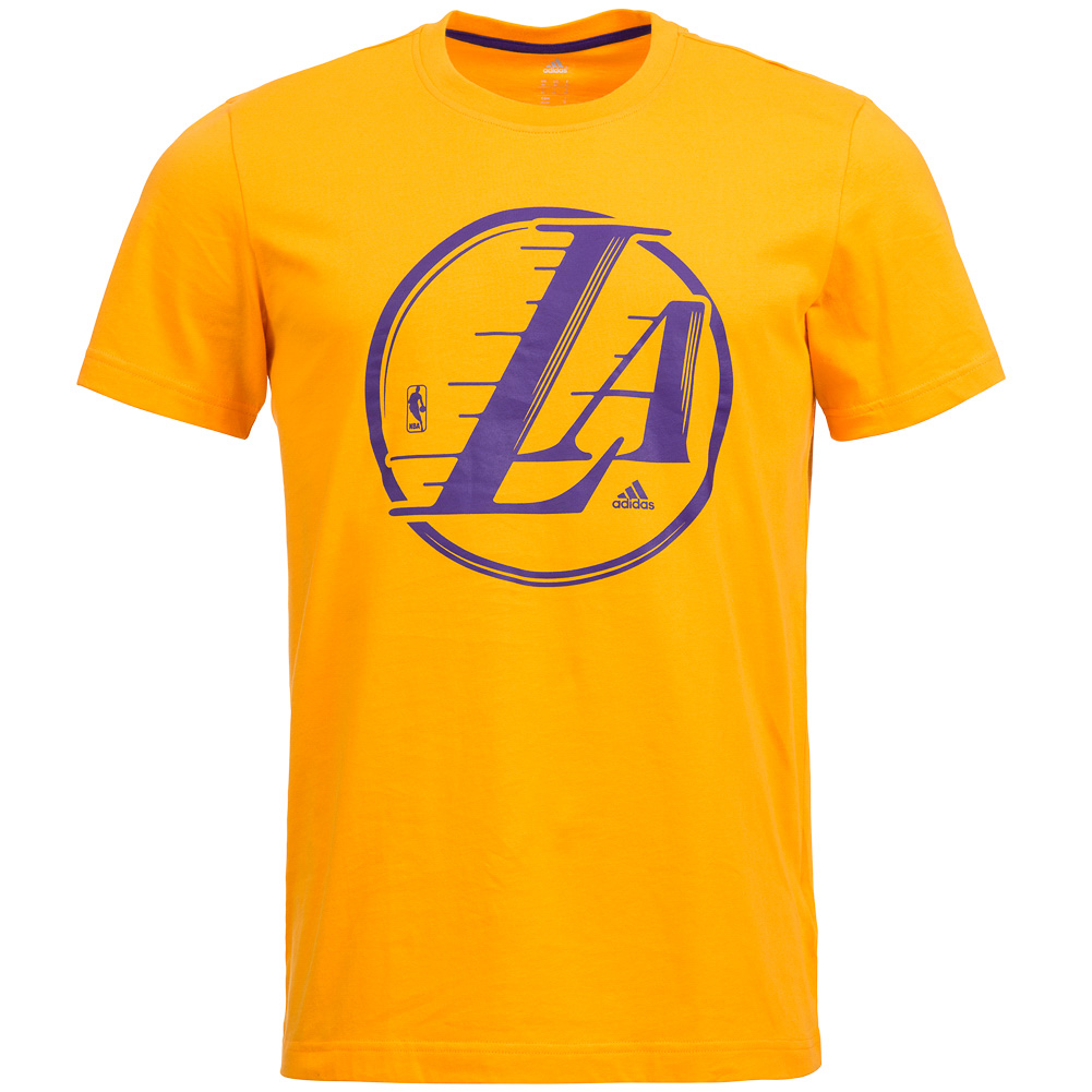 La lakers adidas nba basketball t shirt g78408 herren logo for Nba basketball t shirts