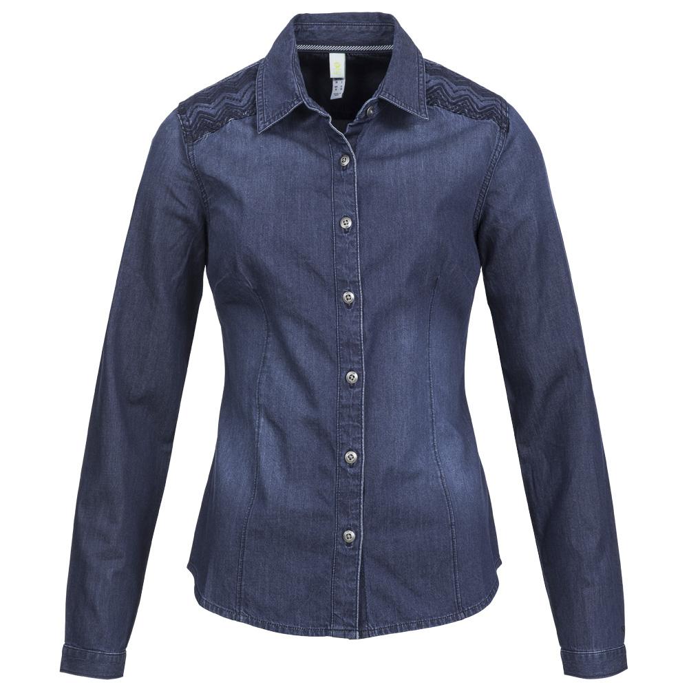 adidas neo denim shirt damen jeans hemd m61190 jeanshemd. Black Bedroom Furniture Sets. Home Design Ideas