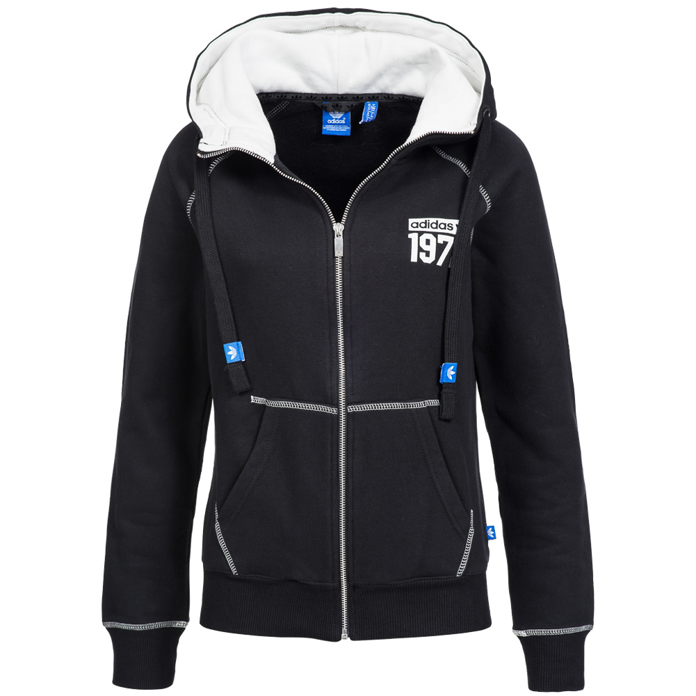 adidas originals super fleece logo zip hoodie damen sweatshirt m69925 gr 34 neu ebay. Black Bedroom Furniture Sets. Home Design Ideas