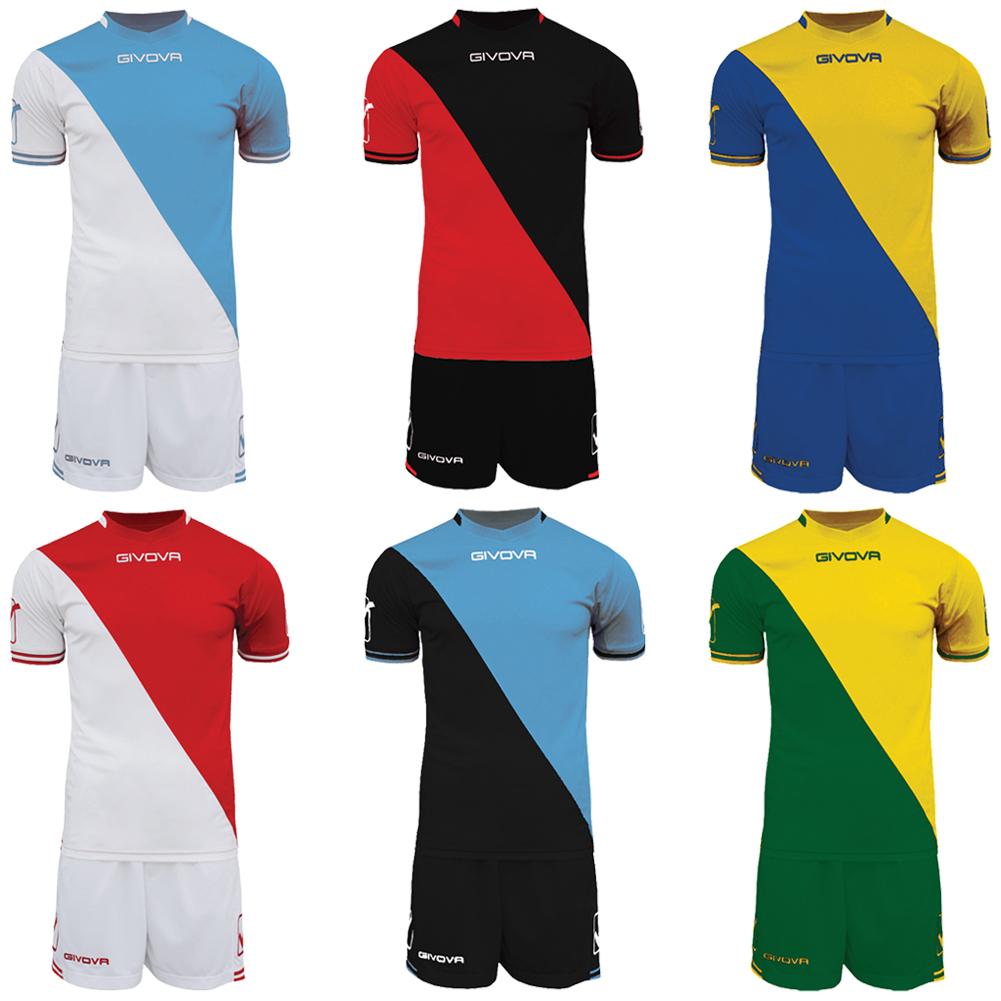 Givova Football Set Jersey with Shorts Kit Craft Teamwear Kit M L XL ... 10efae111