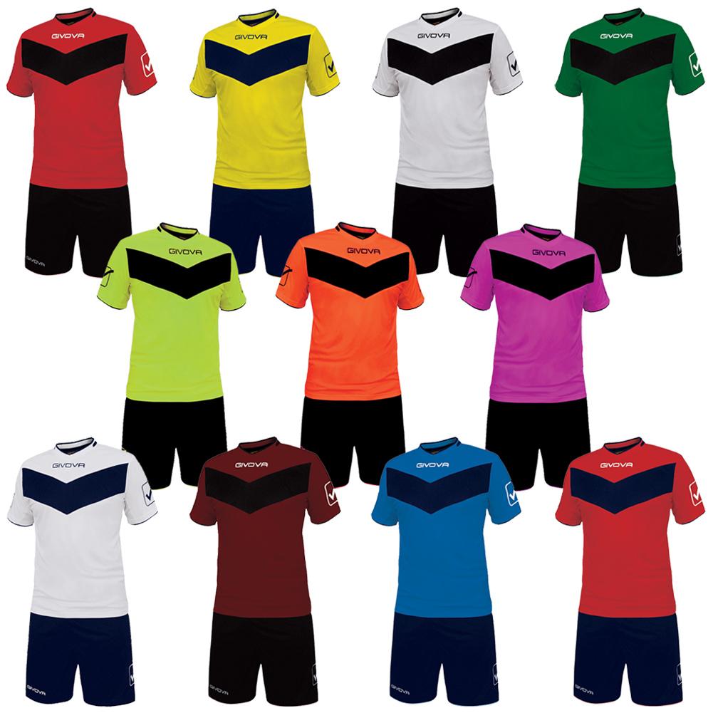 Givova Football Set Jersey with Shorts Vittoria Teamwear Kit 3XS ... 5268255f7