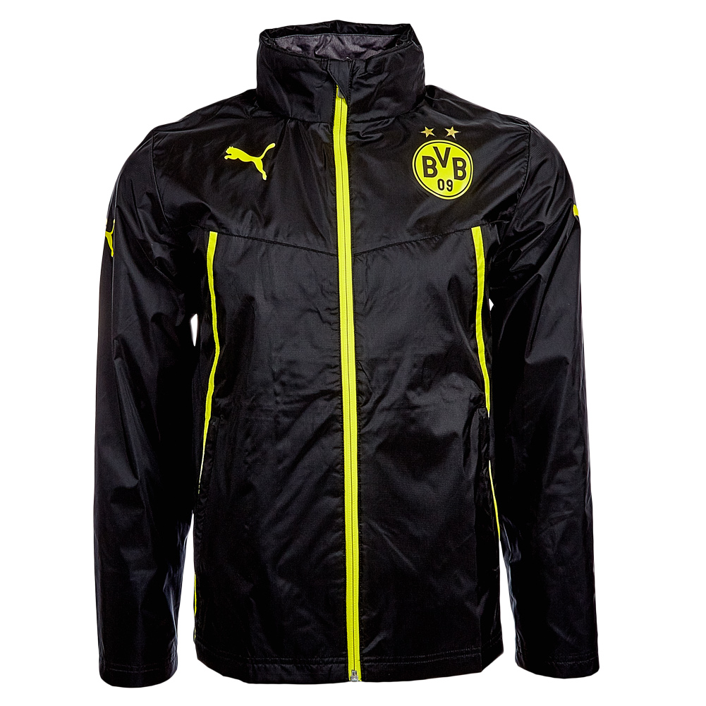 bvb 09 borussia dortmund puma regenjacke 743536 herren. Black Bedroom Furniture Sets. Home Design Ideas