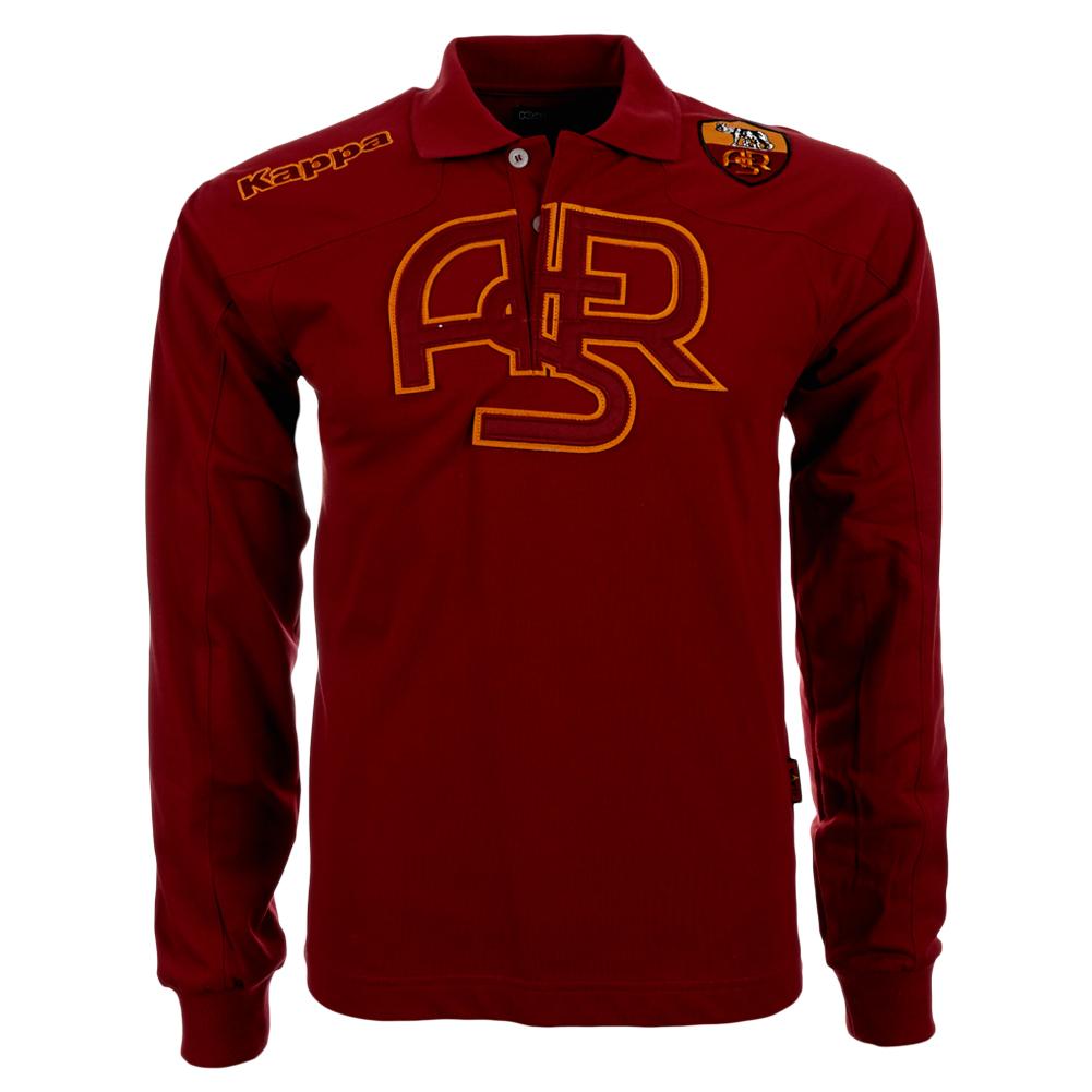 As roma Kappa manga larga camiseta polo Polo Shirt serie a romaníes ... 0ce279d8828b7