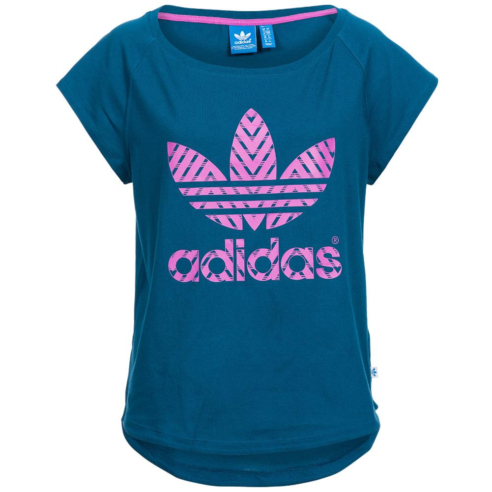 Adidas Originals Tee Damen Freizeit T Shirt Top Trefoil