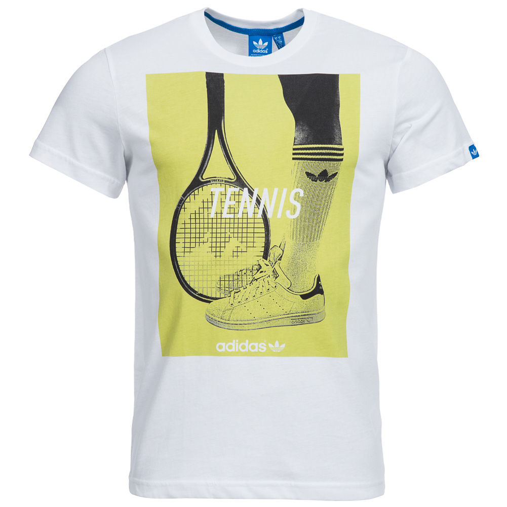 adidas originals graphic tennis t shirt herren freizeit. Black Bedroom Furniture Sets. Home Design Ideas