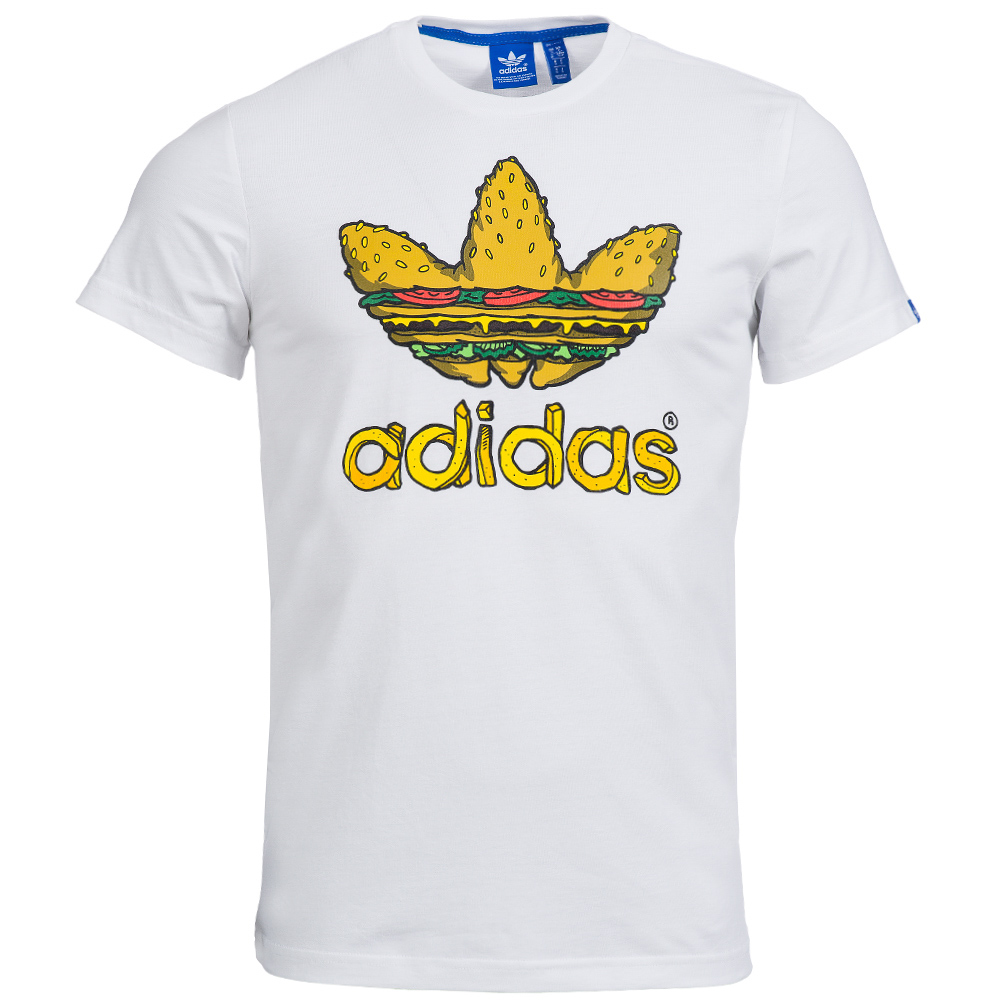 Adidas originals herren t shirt xs s m l xl graphic pocket for Adidas lotus t shirt