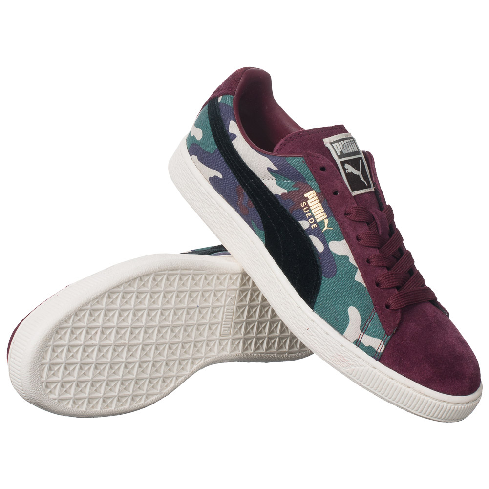 puma suede classic unisex leder sneaker camouflage 358387 03 schuhe leder camo ebay. Black Bedroom Furniture Sets. Home Design Ideas