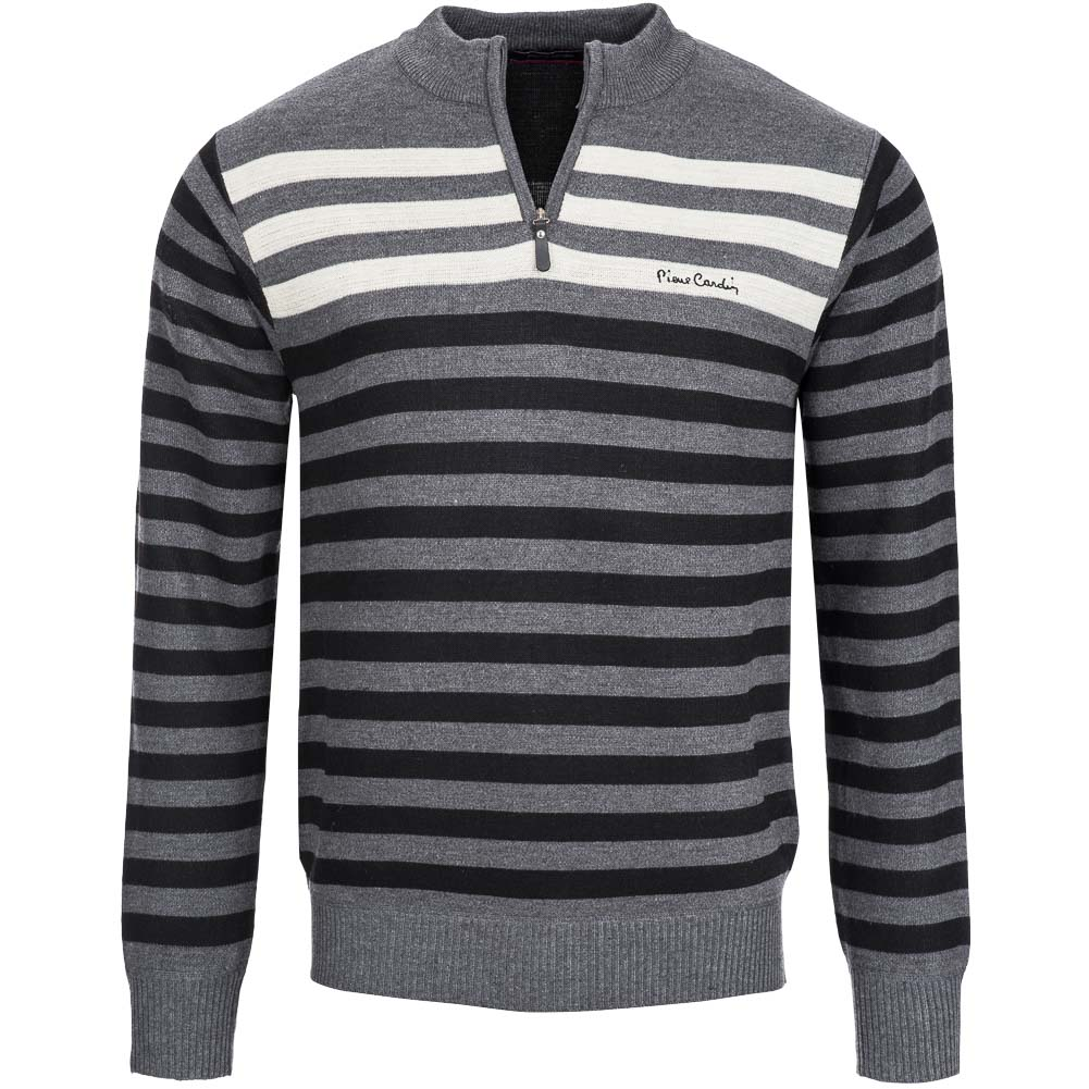 pierre cardin herren sweatshirt gestreift s m l xl sweat. Black Bedroom Furniture Sets. Home Design Ideas