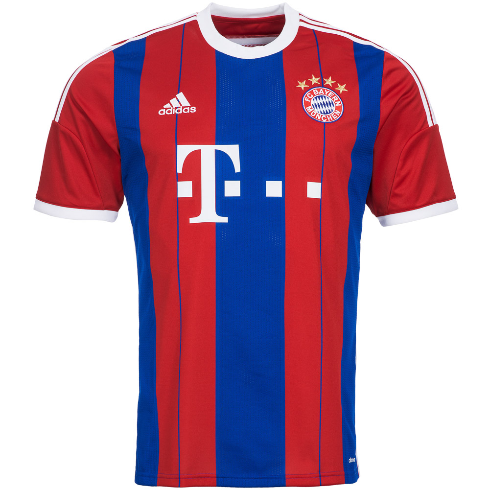 fc bayern munich home jersey adidas f48499 men 39 s home. Black Bedroom Furniture Sets. Home Design Ideas
