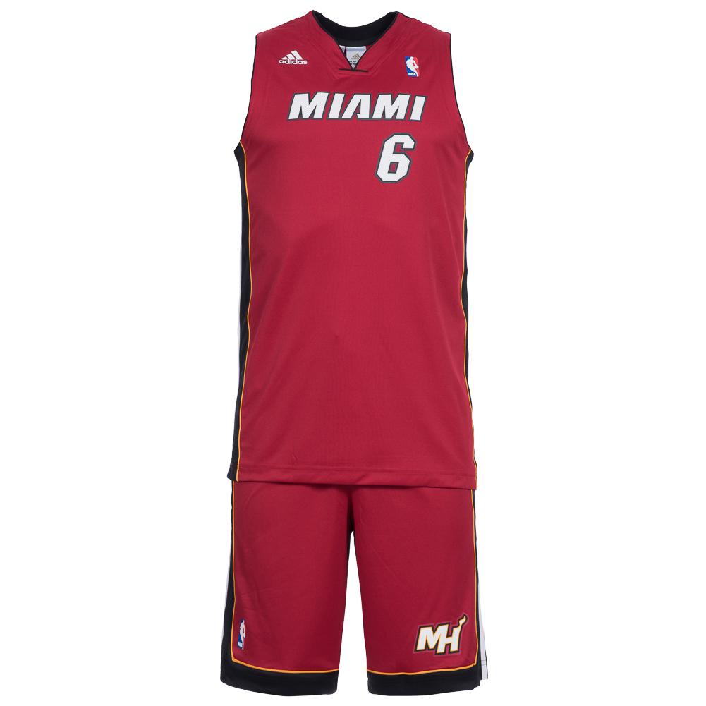 miami heat adidas basketball kinder trikot set 6 james. Black Bedroom Furniture Sets. Home Design Ideas