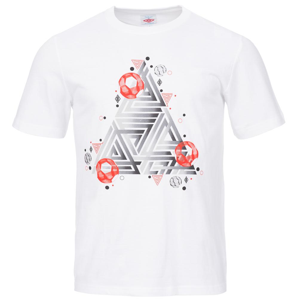 umbro herren classic logo optical illusion t shirt s m l. Black Bedroom Furniture Sets. Home Design Ideas