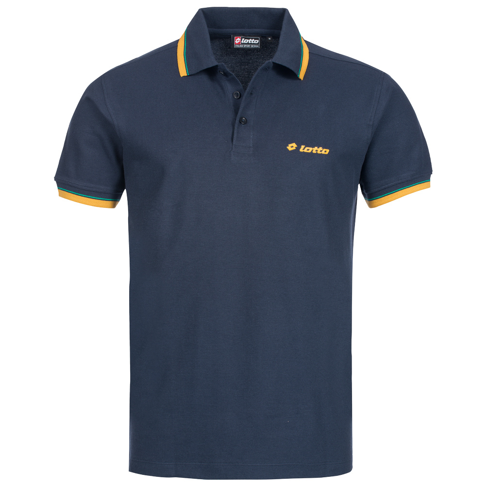 Lotto herren falocia raised print polo shirt freizeit for Polo shirts for printing