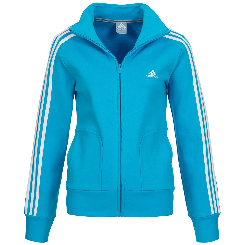 adidas essentials 3 stripe track top jacke damen. Black Bedroom Furniture Sets. Home Design Ideas