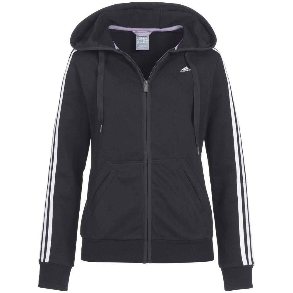 adidas damen trainingsjacke kapuzenjacke 3s hooded jacket. Black Bedroom Furniture Sets. Home Design Ideas