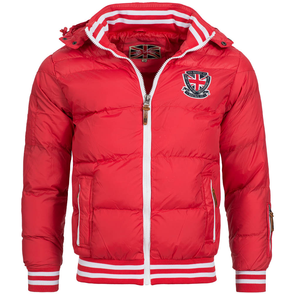 Geographical norway herren winterjacke belton rot