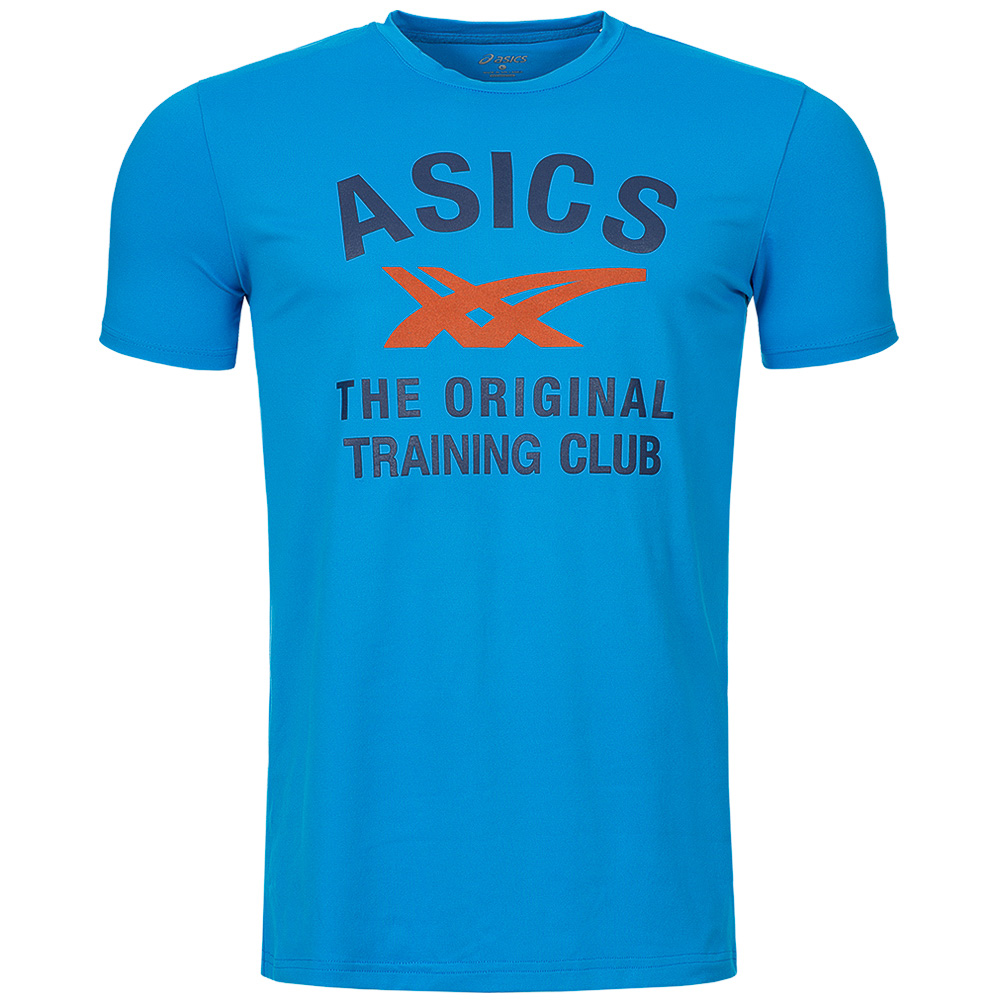 asics tee men 39 s t shirt logo fitness t shirt leisure shirts s m l xl. Black Bedroom Furniture Sets. Home Design Ideas