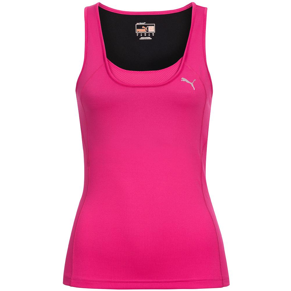 puma tank top gym 2 damen shirt trainings oberteil workout. Black Bedroom Furniture Sets. Home Design Ideas