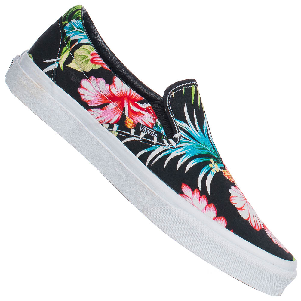 vans classics slip on damen herren blumen freizeit schuhe v0meffz schwarz 36 40 ebay. Black Bedroom Furniture Sets. Home Design Ideas