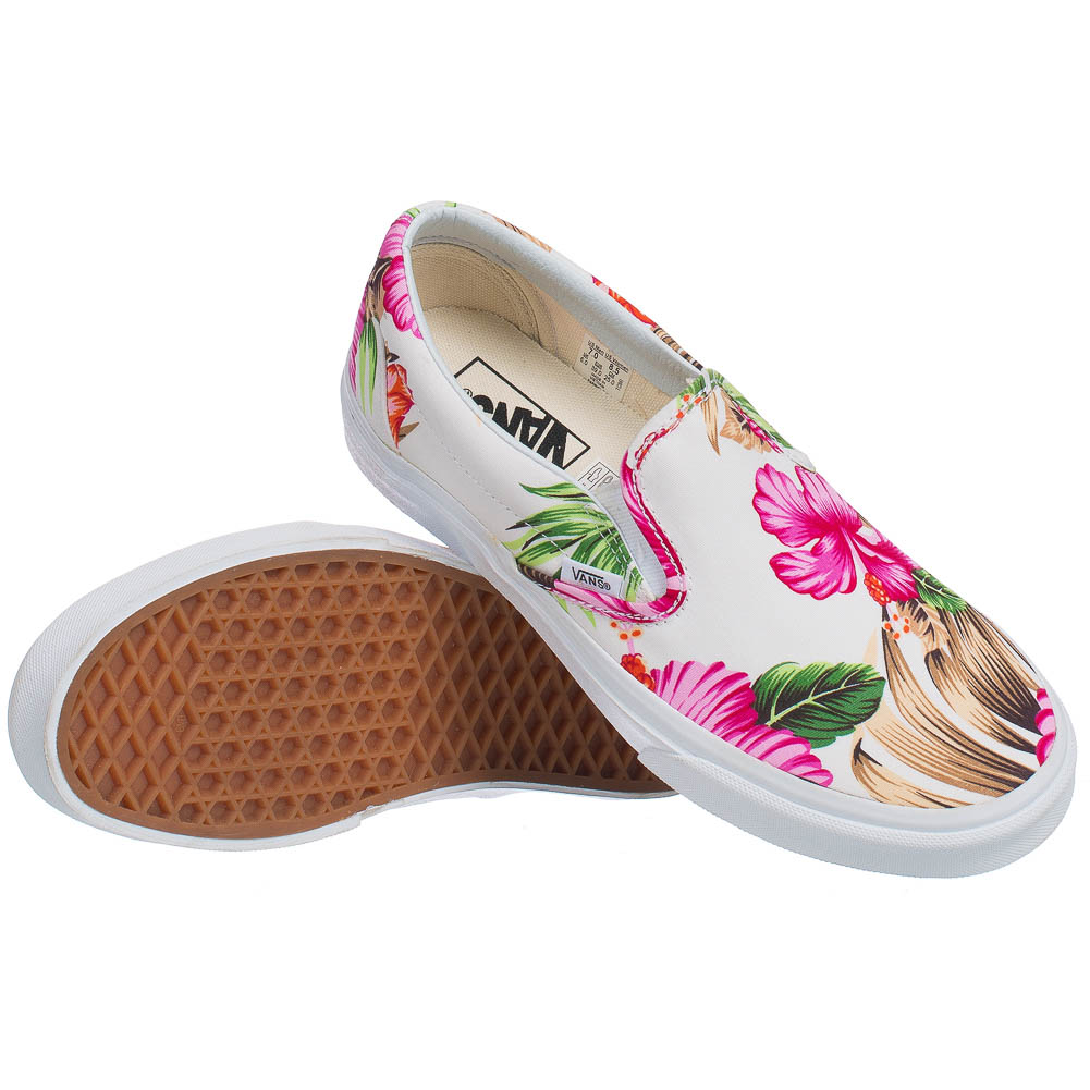 vans classics slip on damen m dchen blumen freizeit schuhe. Black Bedroom Furniture Sets. Home Design Ideas