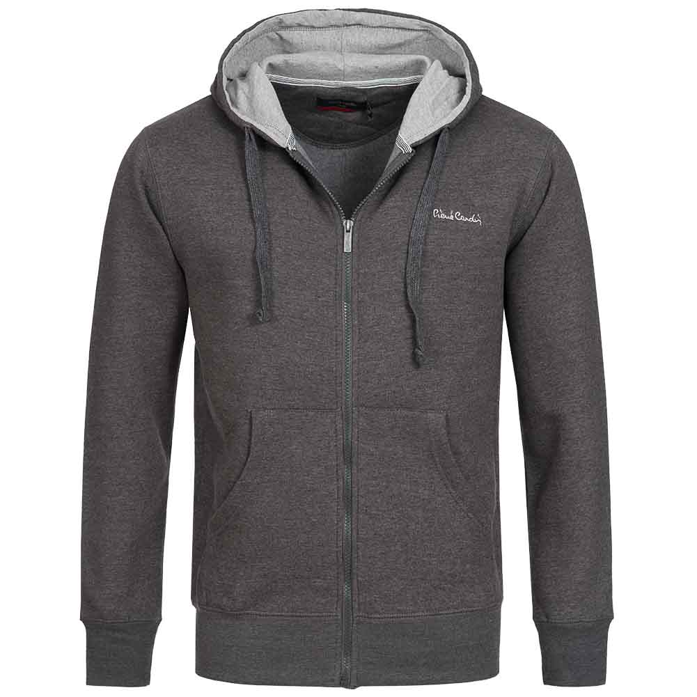 pierre cardin herren hoody kapuzen full zip sweatshirt. Black Bedroom Furniture Sets. Home Design Ideas