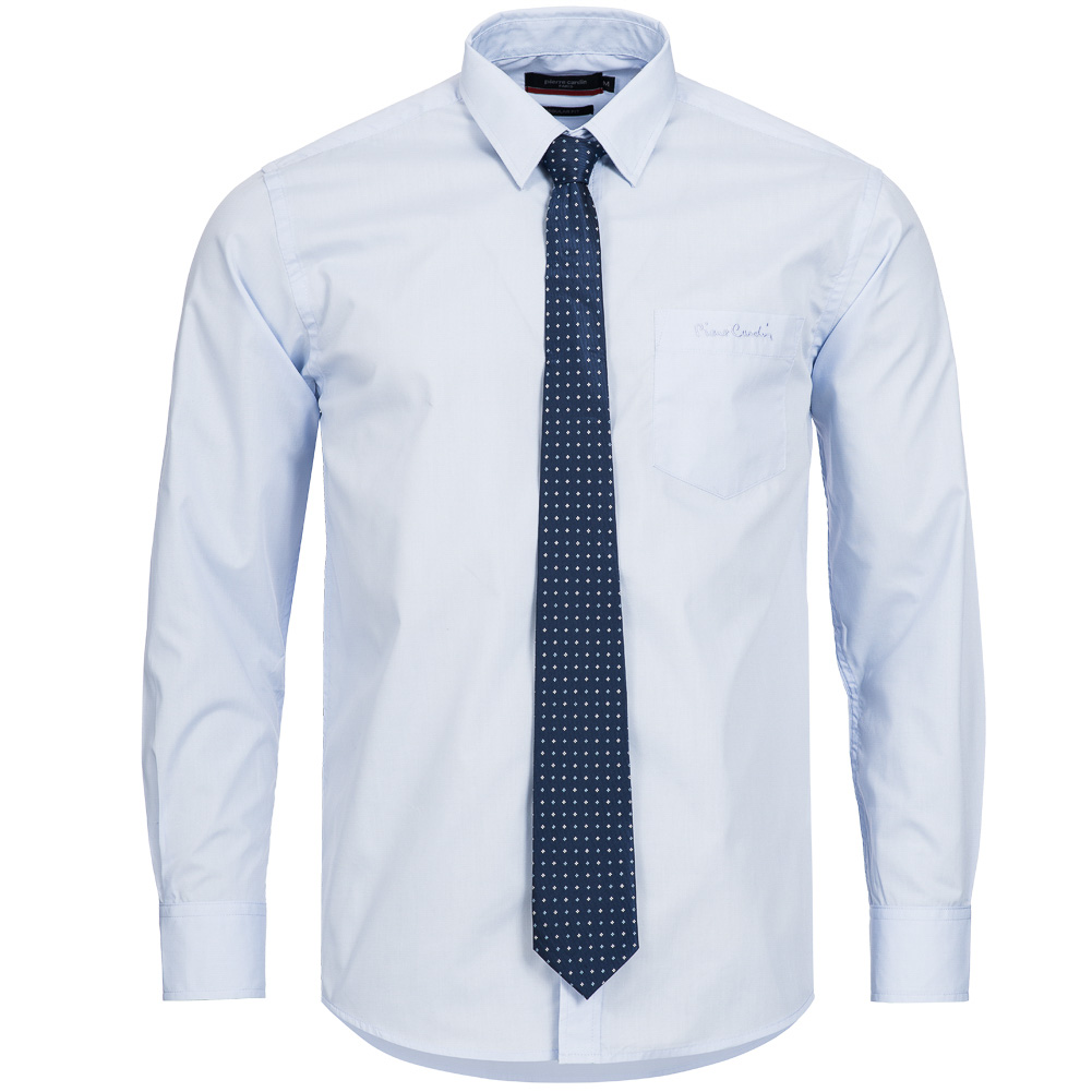 pierre cardin herren designer hemd mit krawatte 2 in 1 business look shirt neu ebay. Black Bedroom Furniture Sets. Home Design Ideas