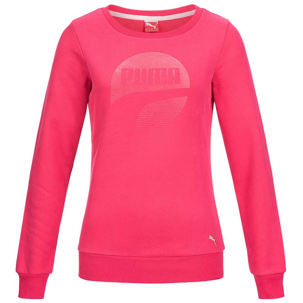 puma athletics crew sweatshirt sweat damen fleece pullover. Black Bedroom Furniture Sets. Home Design Ideas