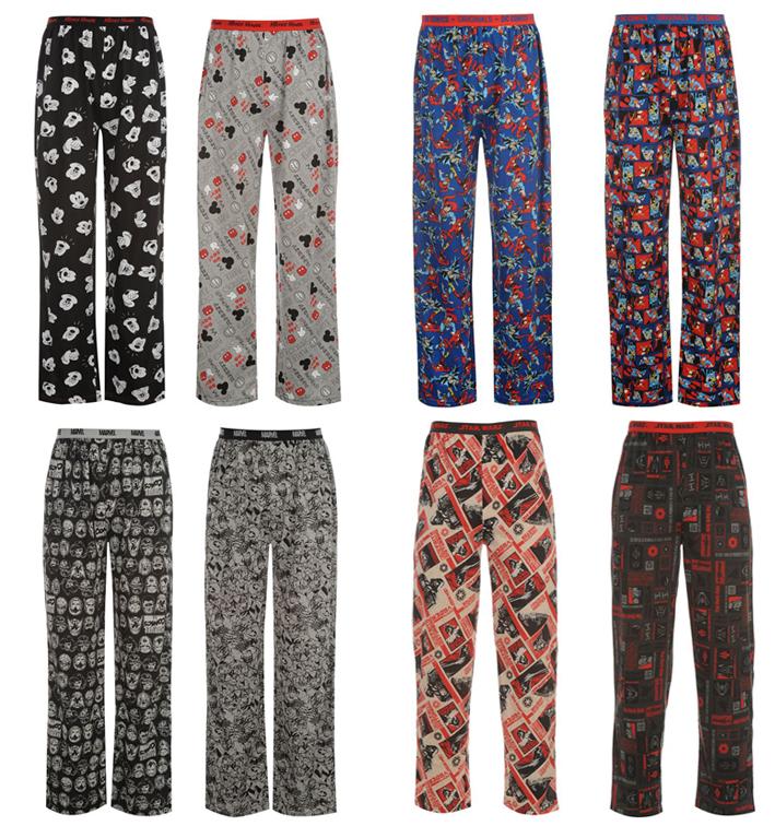 herren lizenz pyjama hose 2er pack star wars dc comics marvel disney s. Black Bedroom Furniture Sets. Home Design Ideas