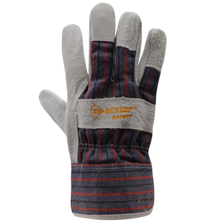 dunlop leder arbeitshandschuhe arbeits handschuhe einheitsgr e neu ebay. Black Bedroom Furniture Sets. Home Design Ideas