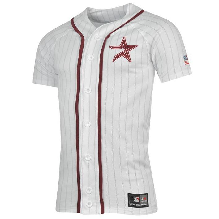 White houston camiseta MLB béisbol ocio t shirt camisa té