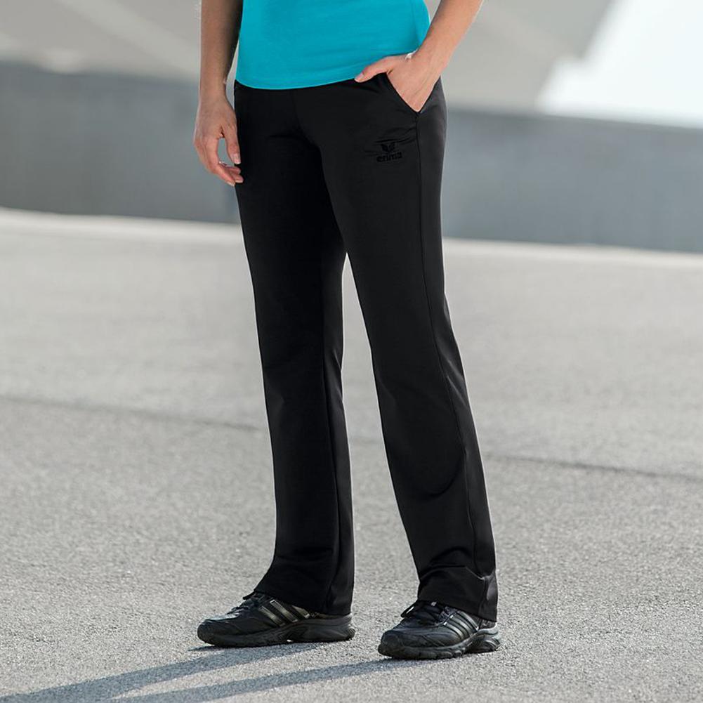 erima damen sporthose fitness hose sport paris pants black schwarz 34 48 neu ebay. Black Bedroom Furniture Sets. Home Design Ideas
