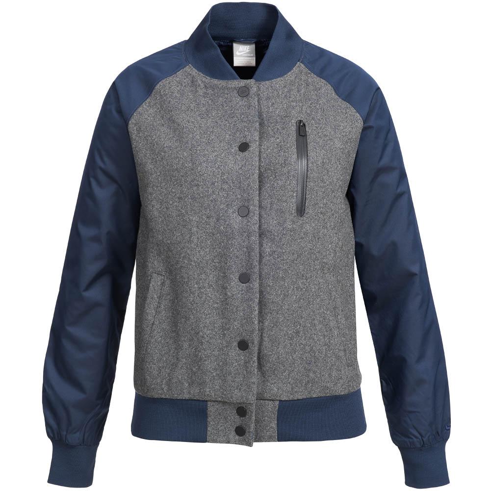 Nike jacket baseball - Nike Destroyer Varsity Baseball Jacket College Jacket Wool