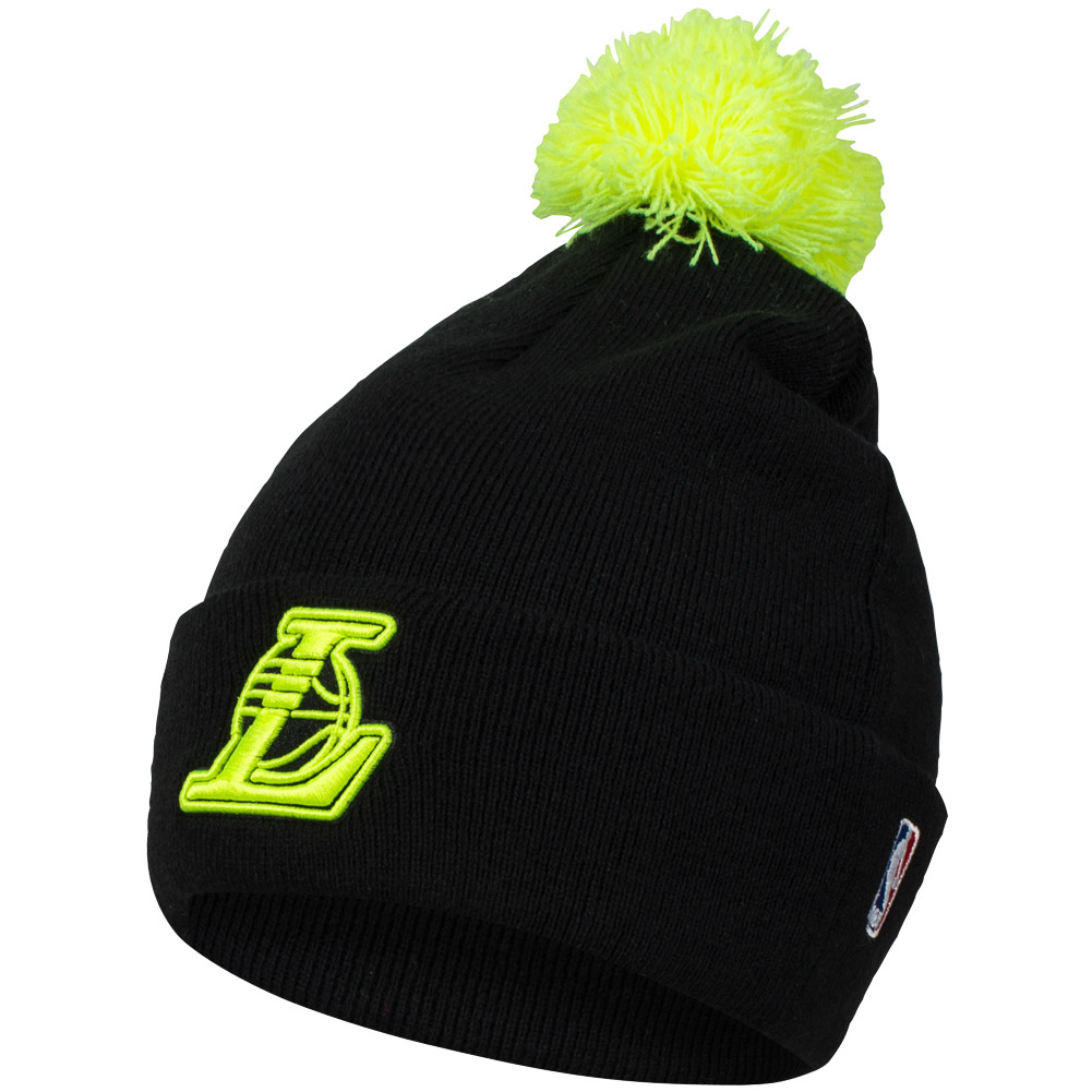 los angeles la lakers adidas unisex nba beanie winter bommel m tze m30712 neu ebay. Black Bedroom Furniture Sets. Home Design Ideas