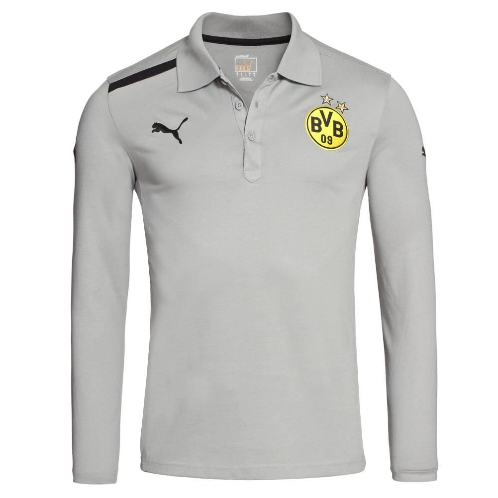 Bvb borussia dortmund long sleeve polo shirt puma s m l xl for What stores sell polo shirts