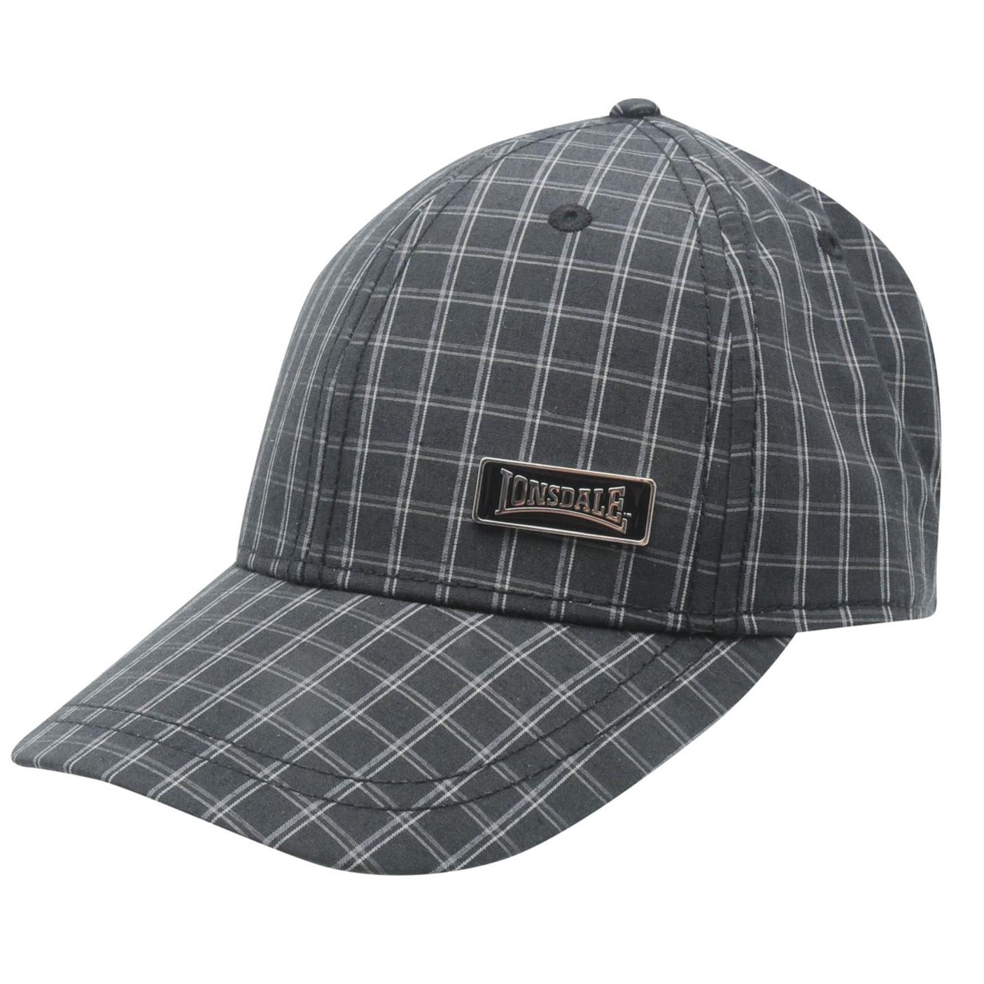 Lonsdale-Herren-Kappe-Bond-Classic-Regency-Cap-Base-Cap-weiss-schwarz-navy-grau