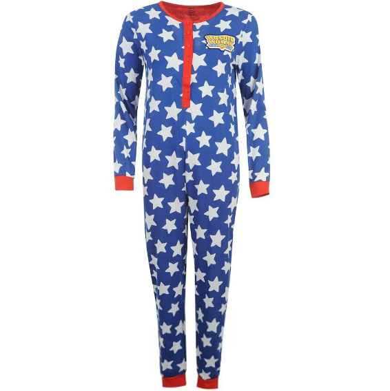 Wonder-Woman-Damen-Einteiler-Jumpsuit-S-M-L-XL-XXL-Onesie-Suit-Wonderwoman-neu