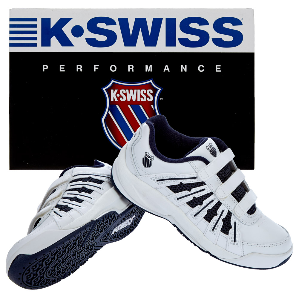 k swiss kinder tennisschuhe optim ii omni strap 82481 167 m tennis schuhe neu ebay. Black Bedroom Furniture Sets. Home Design Ideas