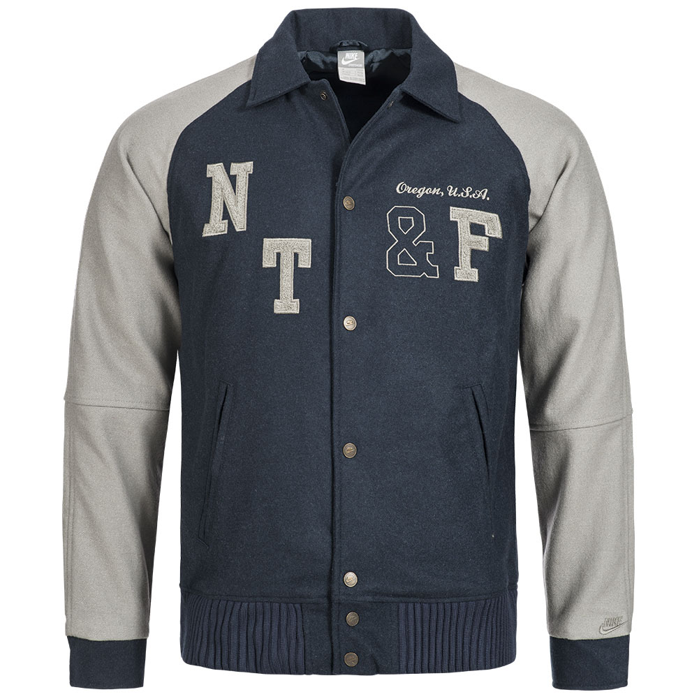 nike herren varsity jacke oregon freizeit jacket. Black Bedroom Furniture Sets. Home Design Ideas