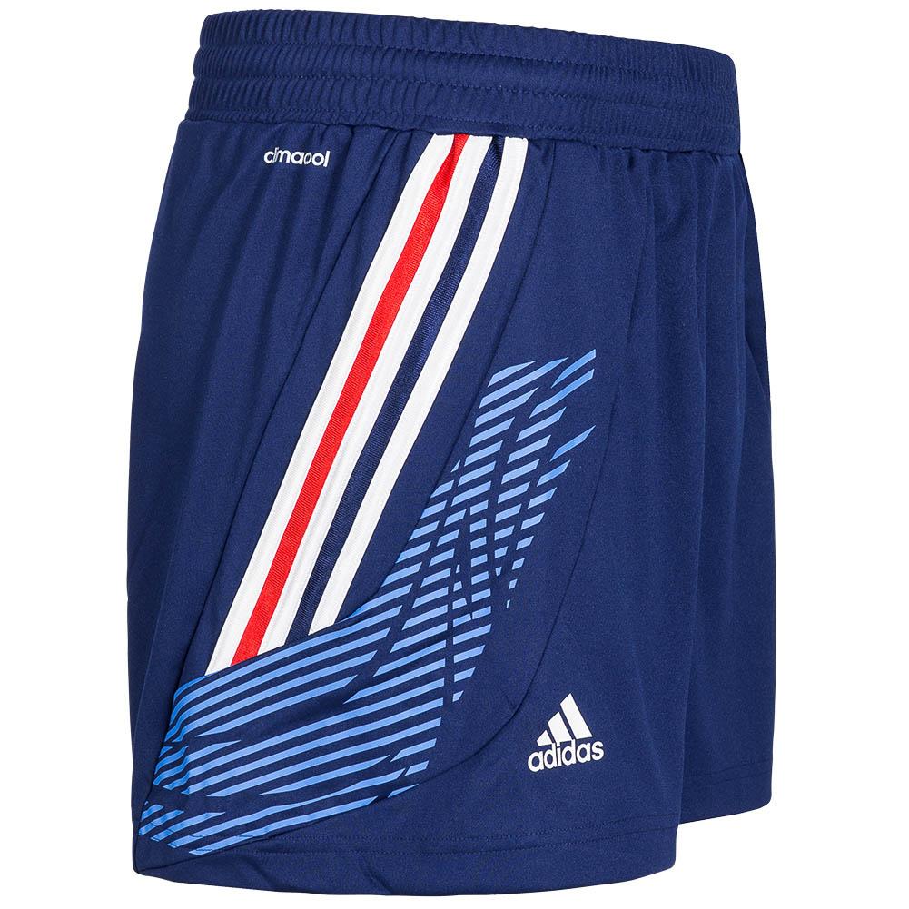 adidas damen handball fitness sport shorts kurze hose blau. Black Bedroom Furniture Sets. Home Design Ideas