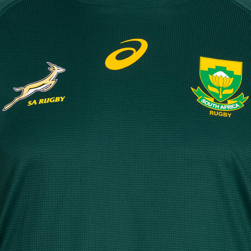 Südafrika Springboks ASICS Rugby Mütze Damen Herren Freizeit Fanmütze grün neu