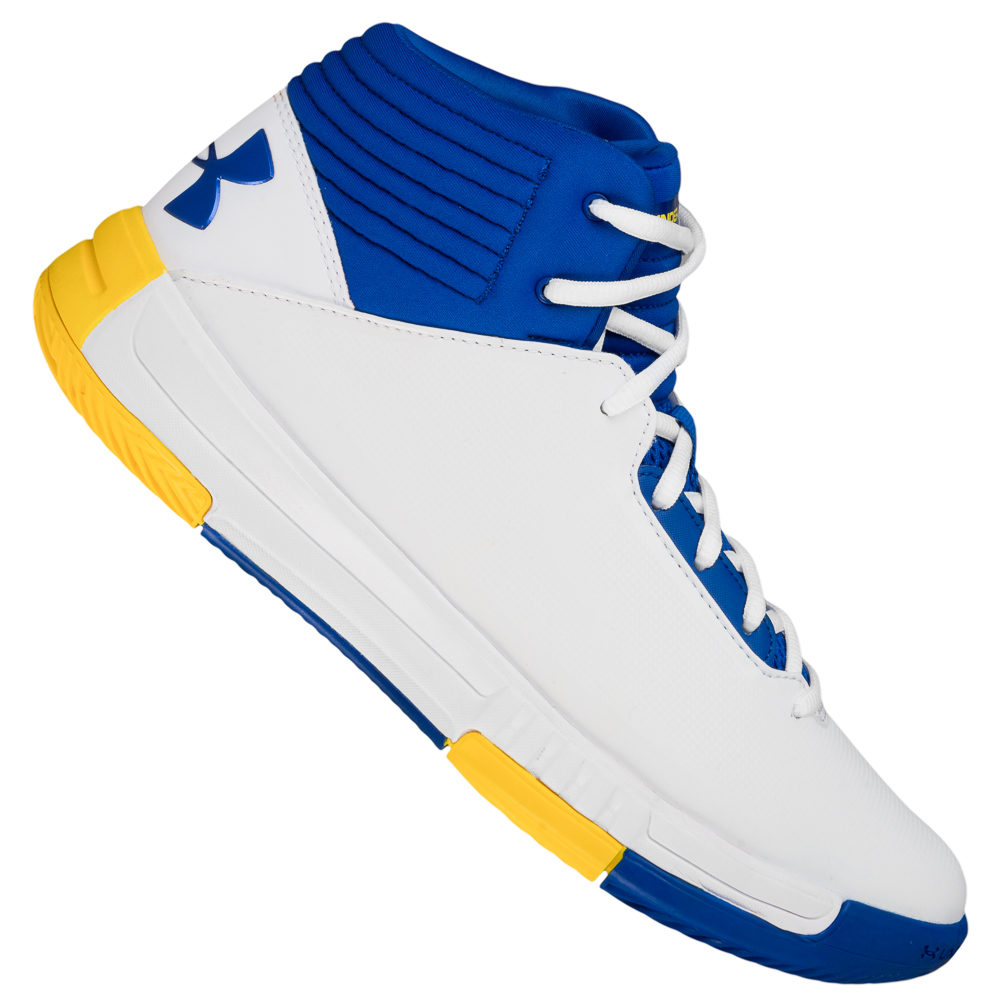 Details about Under Armour Lockdown 2 Mens Basketball Shoes White Blue 1303265 102 NEW show original title